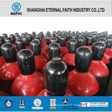 Cylindre de gaz d'azote en acier sans soudure de haute qualité