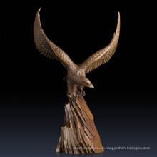 Онлайн домашний декор коллекционные скульптуры арт-бронзовый Орел статуи для продажи