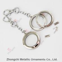 Edelstahl-runder Locket Keychain für Förderung-Geschenk