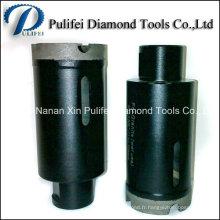 Le trou de granit de diamant de segment de couronne fritté usine le peu de foret de noyau