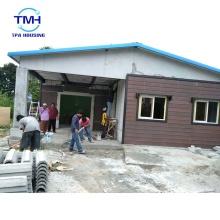 Chalet de acero ligero prefabricado del tablero del cemento del bajo costo para vivir