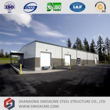 Construção de aço estrutural pré-fabricado com escritório