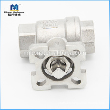 China Top Quality ASTM CE Three-way Mount Direct Type Control Ball Valve Screwed End