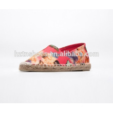 Colorful butterful canvas casual shoes lady summer espadrille shoes slip on
