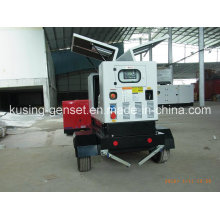 Pk30080 portátil móvel reboque diesel silencioso gerador à prova de som série