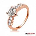 Мода MIDI Diamond меди Любовь кольцо (RiC0005-A)
