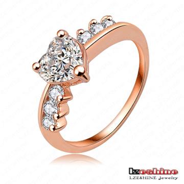 Moda de diamantes de diamantes Copper Love Ring (RiC0005-A)