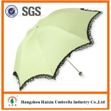 Factory Direct Cheap Custom Made Lace Parasol Umbrella for Promotion