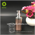 30ml High quality acrylic airless pump bottle rose gold cosmetic bottle