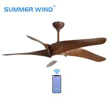 Télécommande marron 5 ventilateur de plafond en ABS