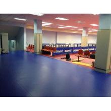 Ittf Certificat Haute Qualité Pas Cher Intérieur PVC Sport Rouleau Plancher / Tapis pour Tennis de Table 4.5 Épaisseur