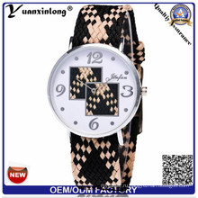 Yxl-205 Пользовательские Бренд Мода Кварцевые Женева Женщины Стиль Тканые Пояса Часы Мода Очаровательные Женские Часы