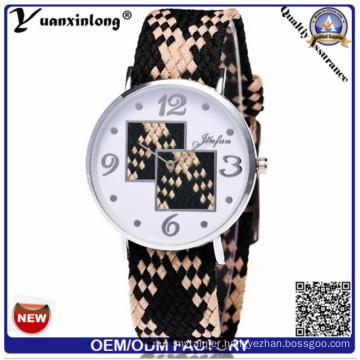 Yxl-205 Custom Brand Vogue Quartz Geneva Style Women Woven Belt Watches Charming Fashion Ladies Watch
