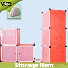 Boîte de rangement en plastique élégante créative de couleur solide pour le stockage