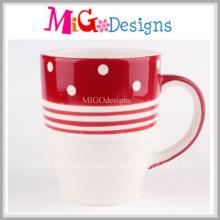 Tasse en céramique colorée de conception faite sur commande avec l'impression