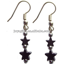 Fashion Hematite Star Jewelry Earring