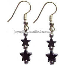 Fashion Hematite Star Jewelry Earring