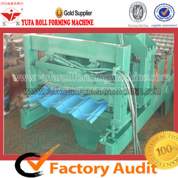 Colored Glazed Steel Tile Roll Forming Machine