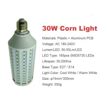 10w 5730 smd led corn light E27/E14/B22 AC220V or AC90-260V warm cool white led lamp
