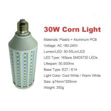 10w 5730 smd levou luz de milho E27 / E14 / B22 AC220V ou AC90-260V quente cool branco levou lâmpada