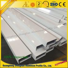 Profil enduit en aluminium de poudre d'extrusion d'OEM de fabricants d'aluminium