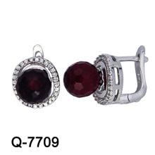 Серьги стержня стерлингового серебра способа цветастые цветастые (Q-7709. JPG