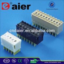 Daier Schwarz / Weiß / Cremefarben 1 ~ 12 Position Kunststoff 1248 Tri-State Dip Switch