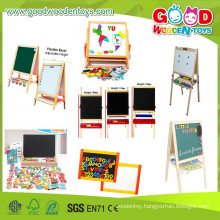2015Cheap And High Quality Wooden Magentic Toys Aids Easel &Board,Hotsale Wooden Drawing Board, Educational Kids Painting board