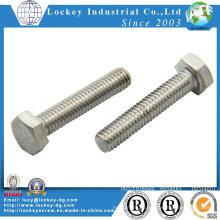 Нержавеющая сталь А2-80 болт с шестигранной головкой ISO4017