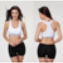 Seamless Sports Bra Fitness Yoga Remendado Trecho Workout Top Tank