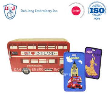 Etiquetas de bagagem bordadas / titulares de cartões