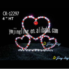 Venta al por mayor Wedding Tiara Heart Rhinestone Pageant Crowns