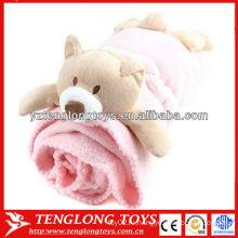 100% полиэстер Ткань коралловое флисовое одеяло с игрушками для животных