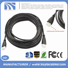10M 30FT Gold überzogene Verbindung dünnes HDMI Kabel V1.4 HD 1080P für LCD DVD HDTV (Staubkappen und PP Paket)