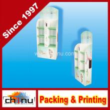Shampoo, Gel de banho Artigos de higiene Papel ondulado Board Pallet Display (6213)