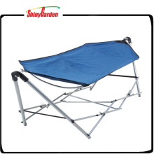 Folding Balcony Swing Chair Camping Hammock with Frame Stand