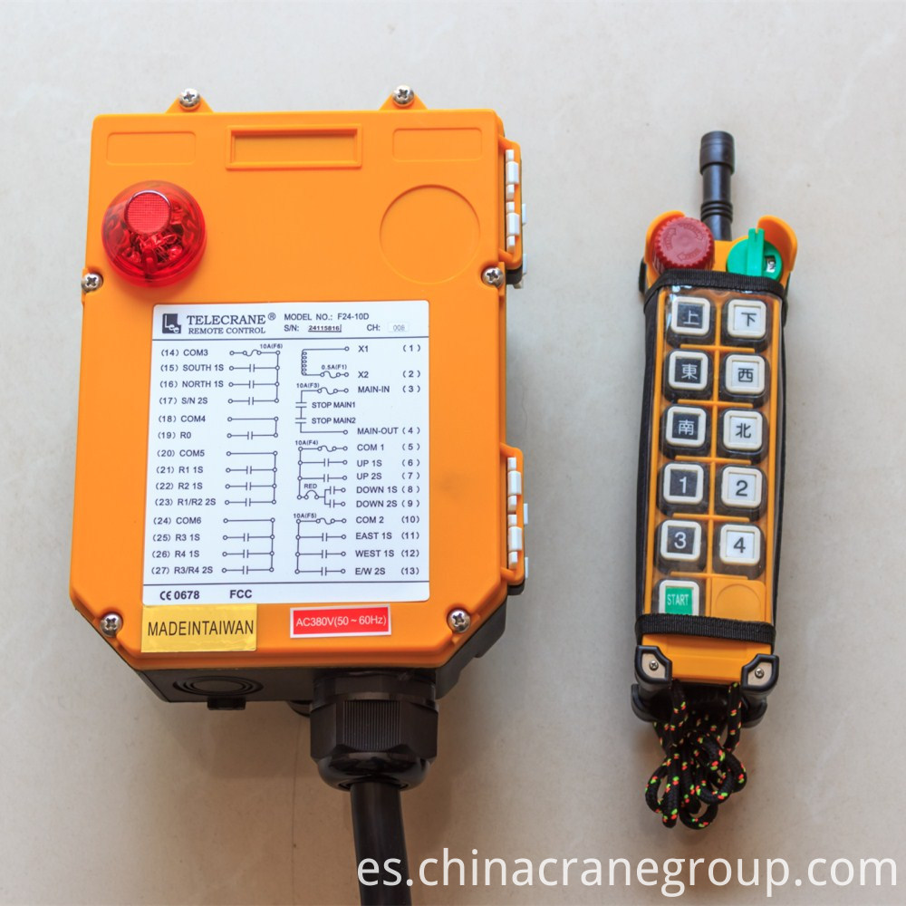 Wireless Remote Control for overhead Cranes