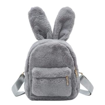 CUTE RABBIT PLUSH BACKPACK-0