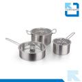 Pot à soupe à angle droit en acier inoxydable 304 à deux poignées