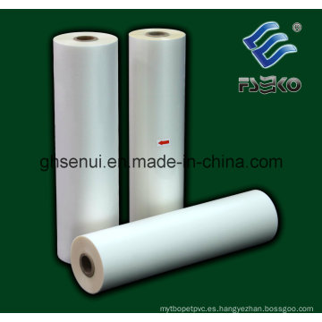 BOPP Película de rollo de laminación térmica, tacto suave (30MIC)