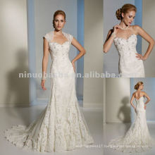 Functional corset back and removable straps wedding dress