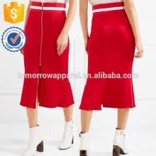 Nova Moda Listrada Saia De Cetim Jersey-aparado DEM / DOM Fabricação Atacado Moda Feminina Vestuário (TA5164S)