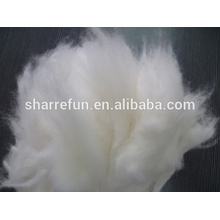 2015 venta caliente del pelo del conejo del angora blanco para girar 14.5-15mic / 32mm