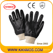 Black Anti-Solvent PVC Dipped Industrial Safety Work Gloves (51203R)