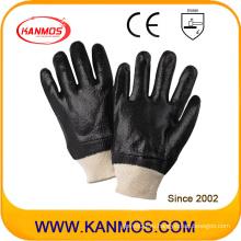Черные анти-растворимые ПВХ окунутые промышленные рабочие перчатки безопасности (51203R)