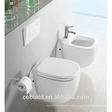 Alta calidad de baño inodoro tazón de agua de cerámica colgado en la pared inodoro