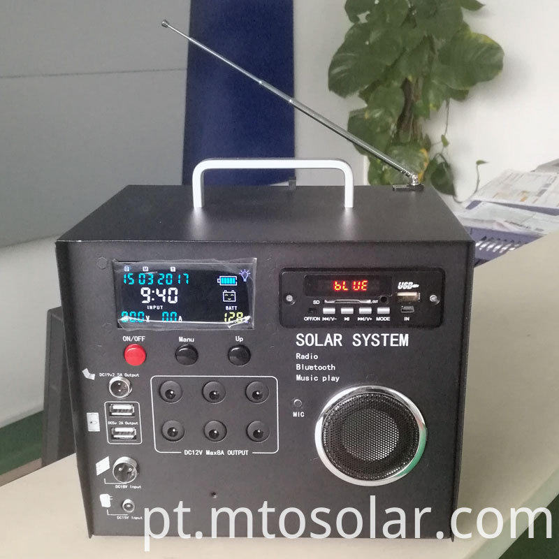 solar radio bluetooth system