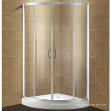 Clôture de douche en verre trempé simple concurrentiel avec le nettoyage facile de double-côté