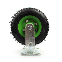 8 inch Heavy duty flat plate directional inflatable caster wheel