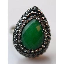 Mode Gestone Stein Kupfer Ring Ringe Schmuck
